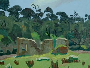 Painting by Mark Dober 'Cottage Ruin in a Forest (Spring)'