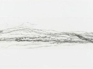 Drawing by Sallie Moffatt 'Fowlers Gap Triptych right'