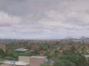 Australian Landscape Painting 'Doncaster from Box Hill' Alexandra Sasse 46 x 81cm
