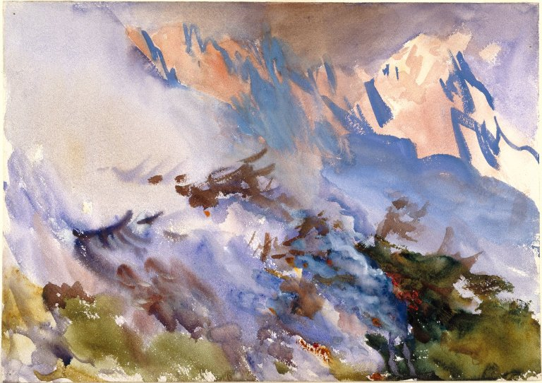 'Mountain Fire' John Singer Sargent. Brooklyn Museum