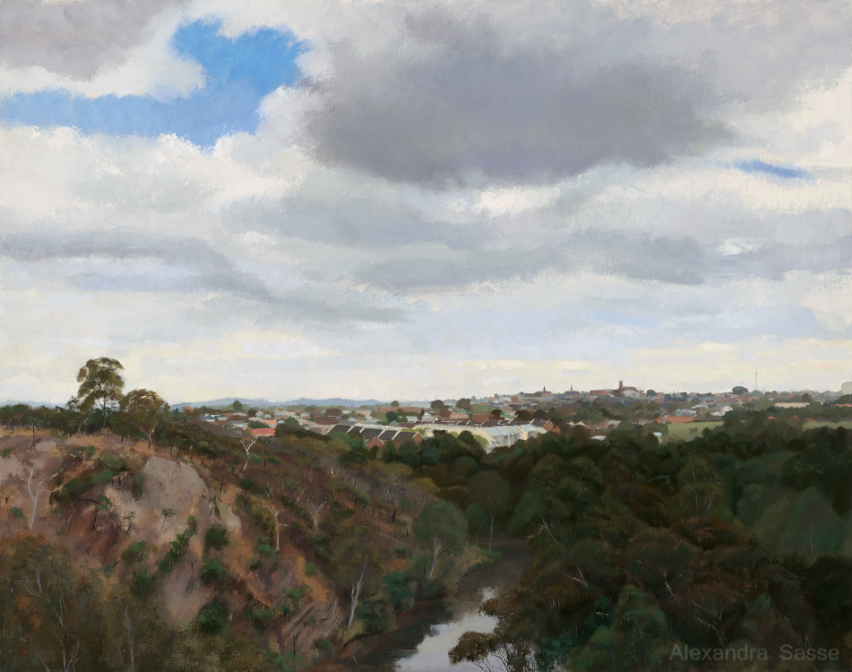 Australian Landscape Painting 'Clifton Hill From Studley Park' by Alexandra Sasse