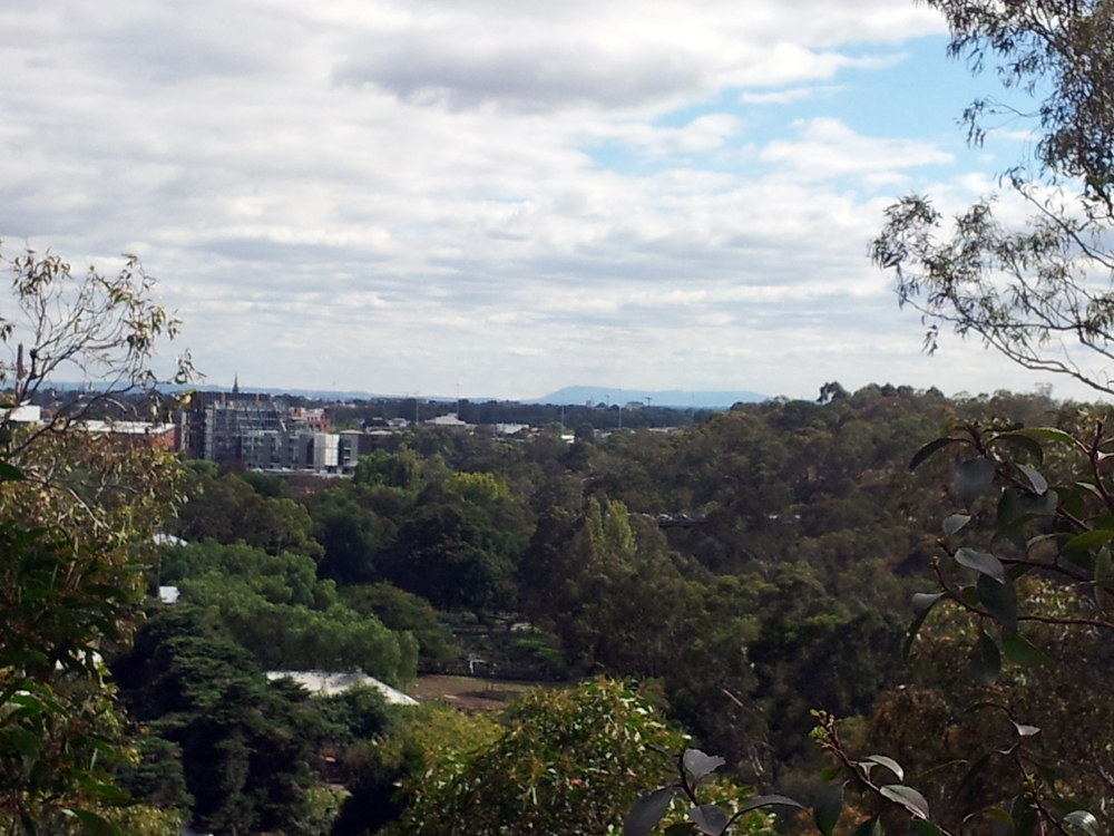 Studley Park looking across the Abbotsford Children's Farm to Mt Macedon