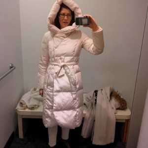 this puffer's waist is too high on me and makes me look like a ridiculous marshmallow