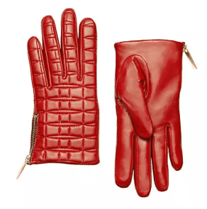Kate Spade bow quilted gloves
