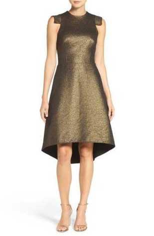 metallic-jacquard-dress