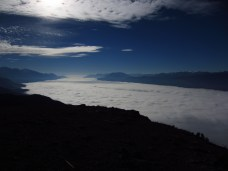 A dramatic inversion as viewed from the top of Mt. Swansea near Invermere B.C. on traditional unceded territory of the Ktunaxa and Shuswap peoples.