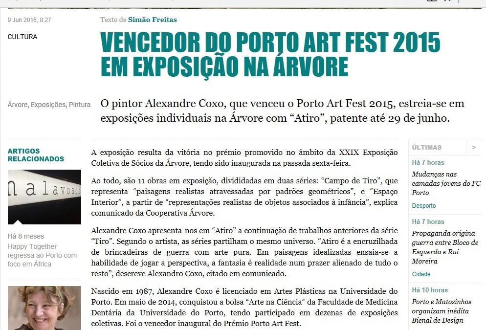 Vencedor do Porto Art Fest 2015