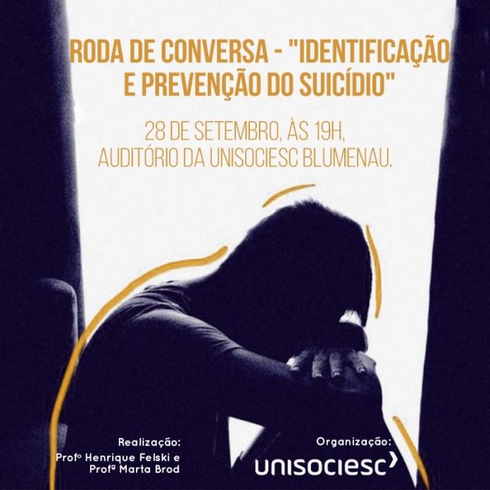 Roda de conversa debate o suicídio nesta sexta, em Blumenau