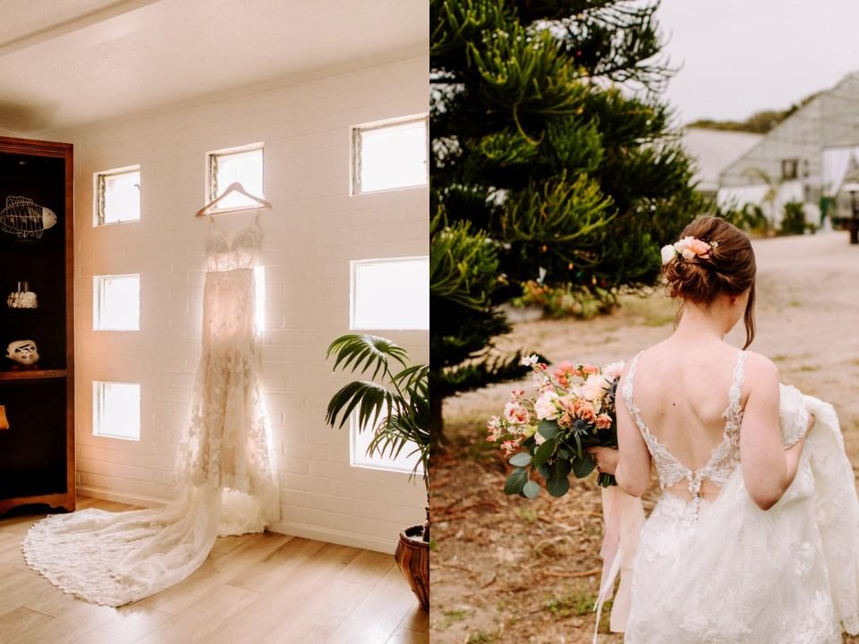 bride at dos pueblos orchid farm