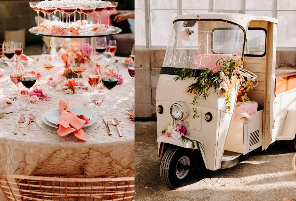pink whimsical wedding inspiration