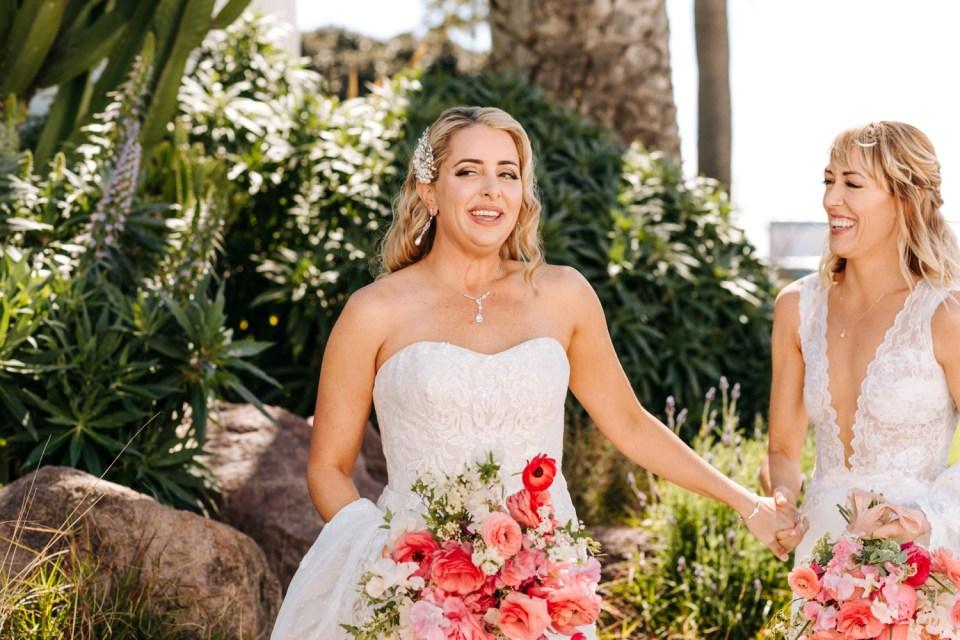 Brides portraits at Casino San Clemente