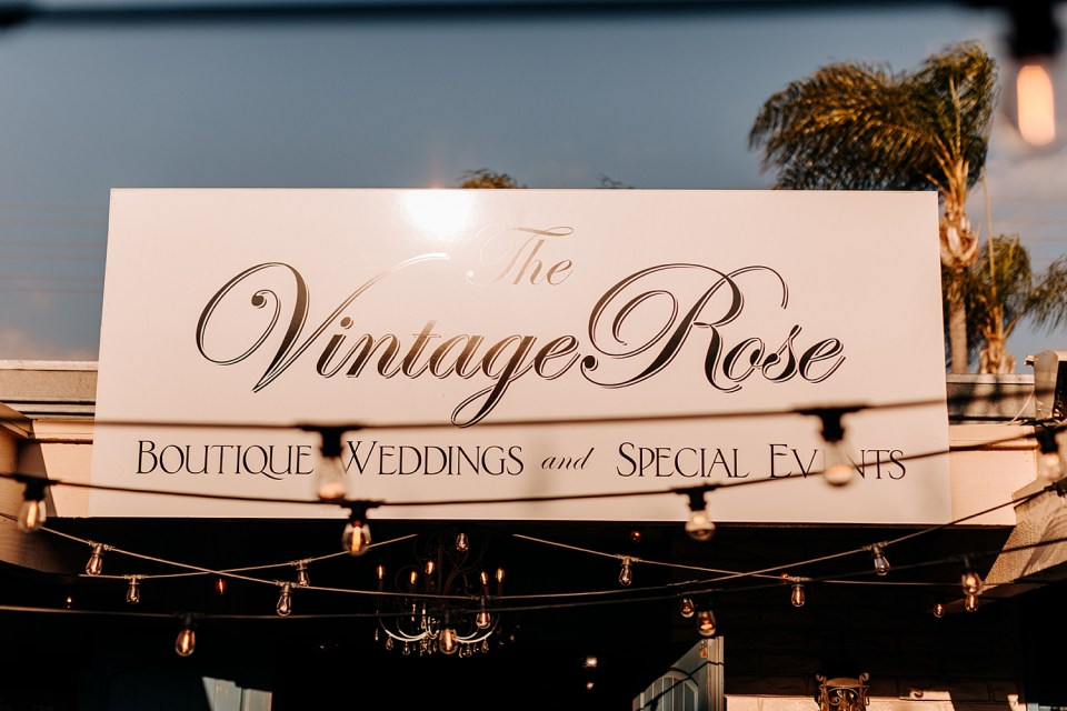 reception party at vintage rose california