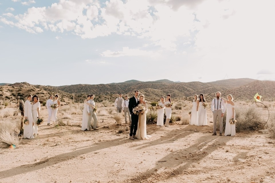Wedding Party in the desert at RimRock Ranch