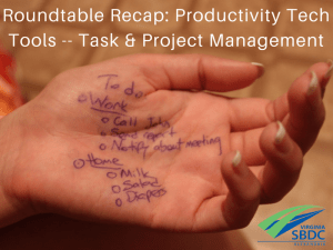 Productivity Tools for Task & Project Mgmt
