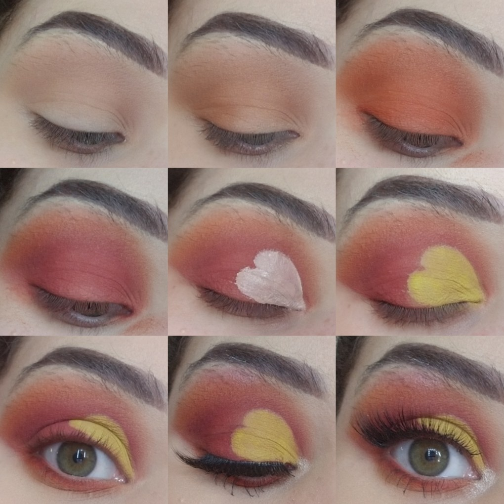 Heart Valentine's Day Makeup