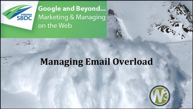 Managing Email Overload! [webinar]
