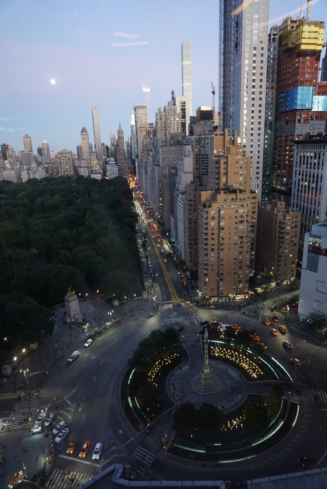 The view from the 35th floor of the Mandarin Oriental