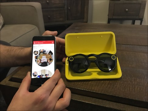 The charging case is slick and video playback in the Snapchat app makes you want to both consume and share content in a way that I haven't really felt compelled to on Snapchat before.