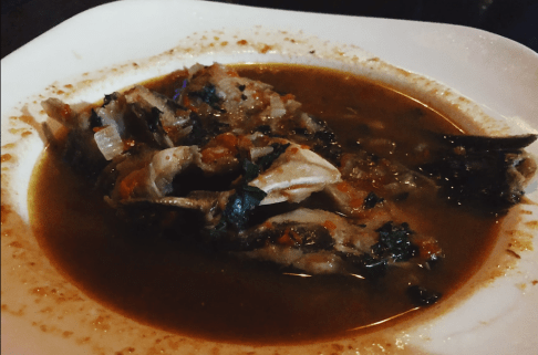 Pepper soup, probably the spiciest dish I've ever eaten in my entire life. Nigerians take their spice seriously!