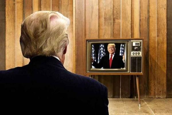 SW trump on tv