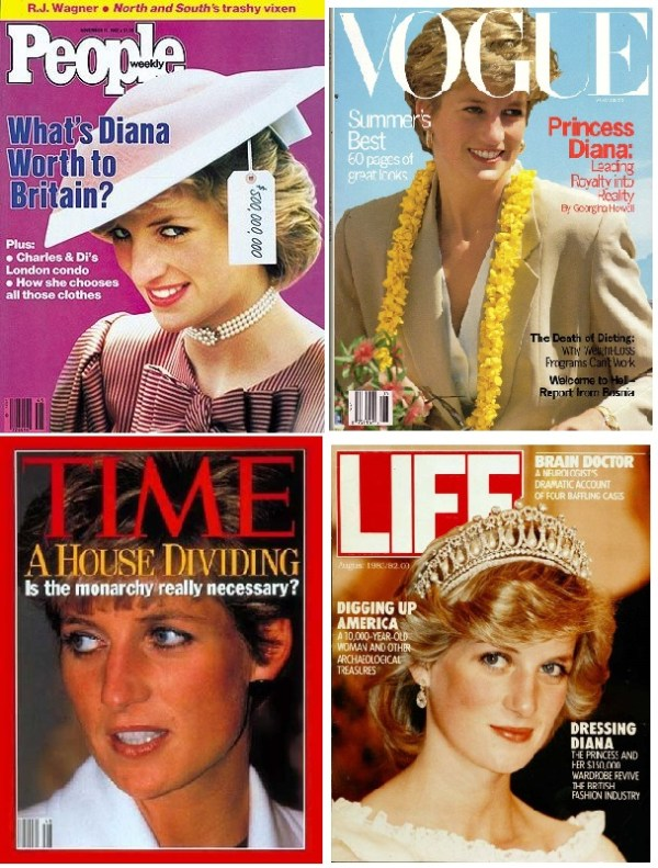 Diana, magazine covers