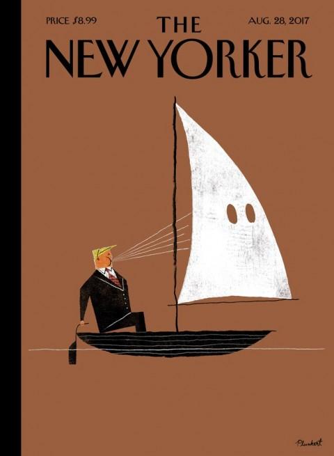 trump new yorker klan cover