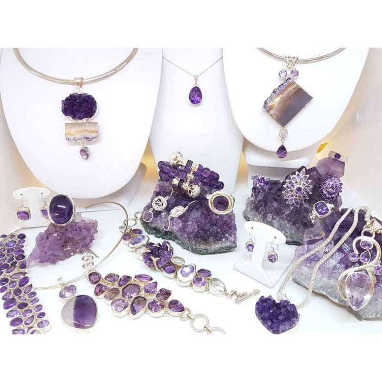 Amethyst Jewellery selection