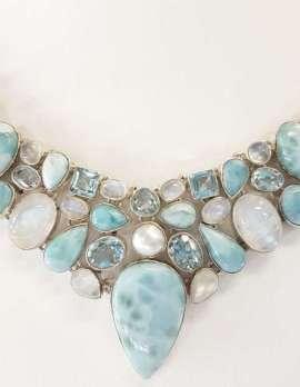 Larimar choker necklace