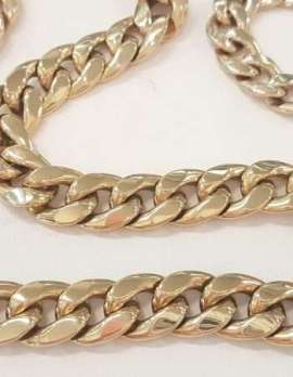 9ct Gold Curb Link Necklace and Bracelet