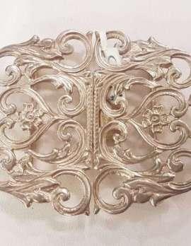 Sterling Silver Ornate Belt Buckle