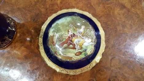 Limoges France Large Round Trinket Box