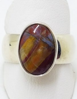 Sterling Silver Mookaite Oval Ring
