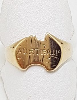 9ct Rose Gold Australia Ring