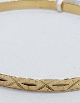 14ct Rose Gold Patterned Bangle