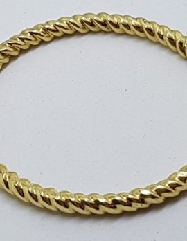 18ct Yellow Gold Patterned Hinged Bangle