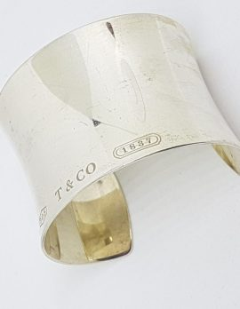 Sterling Silver Vintage Tiffany Wide Cuff Bangle