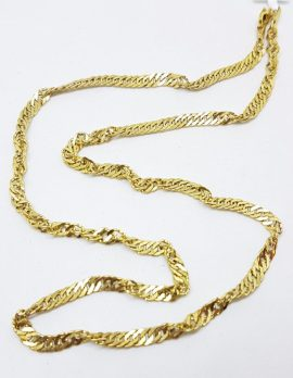 14ct Yellow Gold Singapore Link Chain / Necklace
