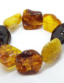 Natural Multi-Coloured Amber Chunky Bracelet