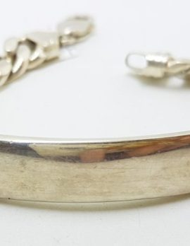 Sterling Silver Heavy ID/Identity Figaro Link Bracelet