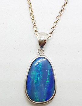 Sterling Silver Opal Pendant on Silver Chain