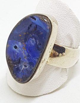 Sterling Silver Large Boulder Opal Ring