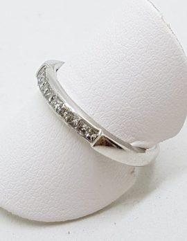 18ct White Gold Channel Set Diamond Wedding/Eternity/Band Ring