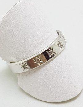 18ct White Gold Diamond Wedding Band Ring