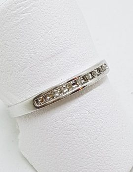 18ct White Gold Diamond Channel Set Eternity/Wedding Ring