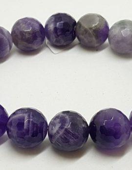 Amethyst Elastic Bead Bracelet