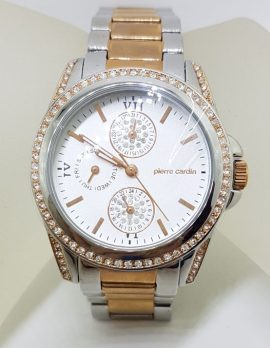 Pierre Cardin Watch - Stainless Steel Rose Gold Tone and Swarovski Crystal