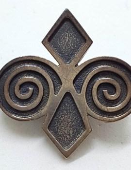 Sterling Silver Celtic Twist/Knot Brooch