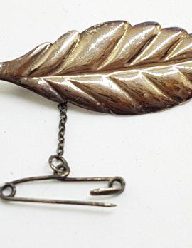 Sterling Silver Leaf Shape Brooch