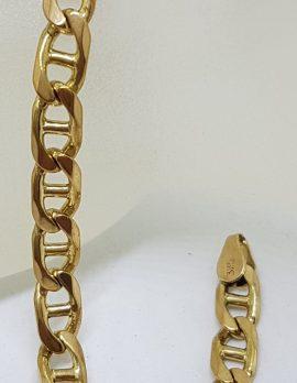 9ct Yellow Gold Anchor Link Bracelet - Ladies / Gents