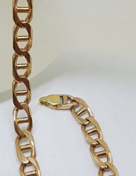 9ct Yellow Gold Long Anchor Link Bracelet - Ladies / Gents